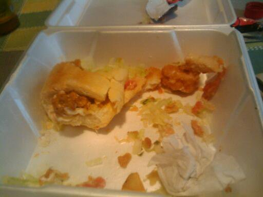 What remained of the po-boy after I got to it.