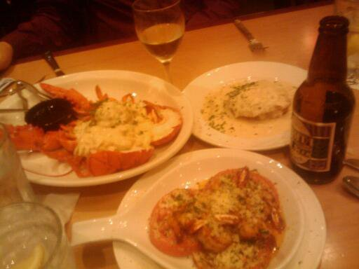 Stuffed Lobster, Crabcakes, Shrimp Ruth