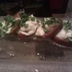 Caprese salad w/white balsamic vinaigrette