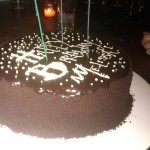 Birthday Cake: Devil's Food w/vanilla mascarpone filling, chocolate glaze