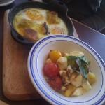 Baked Eggs w/Tomato, Mozzarella
